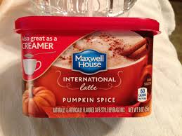 pumpkin spice for coffee fall roundup 2015 maxwell house pumpkin spice latte instant coffee