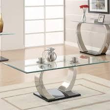 coaster company satin nickel coffee table coaster shearwater coffee table in satin metal 701238