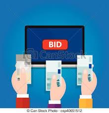 auction bid bidding auction laptop bid button raised money