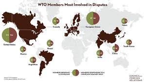 Borderless World Map by The World Trade Organization Wto Council On Foreign Relations