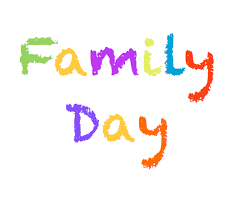 family day colorful text picture