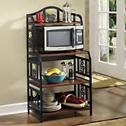 haley microwave stand with hutch from country door n8451435