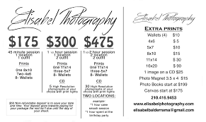 photographer prices prices packages and promotions elisabel photography