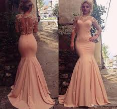evening dresses pink sheer mermaid evening dresses 2017 lace appliques