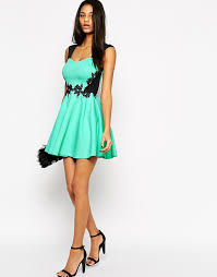 wholesale smooth fabric sweetheart neckline skater dress with