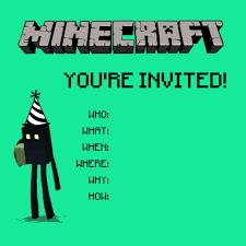 Christmas Card Invitation Wording Birthday Invites Exciting Minecraft Birthday Party Invitations