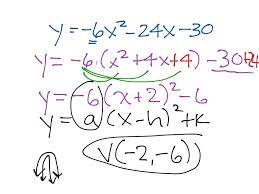 standard to vertex form