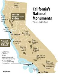 Map Of The Coast Of California Map Of California National Parks And Monuments California Map