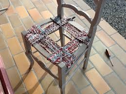 rempailler une chaise k roll rempaillage de chaise avec du tissu
