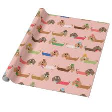 dachshund christmas wrapping paper dachshund wrapping paper zazzle