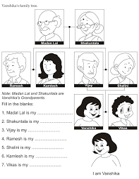 family tree coloring pages download english activity worksheet vanshika u0027s family tree from