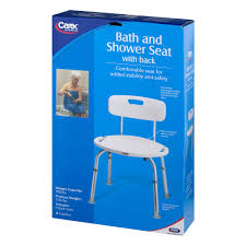 carex adjustable shower chair bath seat with back walmart com