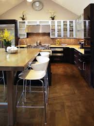kitchen adorable curved kitchen island with seating rustic