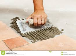 Laying Ceramic Floor Tile Laying Ceramic Floor Tiles Stock Photo Image Of Material 33647620
