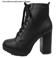 s boots combat soda s combat lace up lug platform chunky block