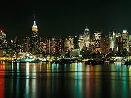 new york city skyline at night hd wallpaper