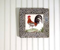 kitchen unique rooster kitchen decor using cutting board hanging