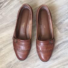 brown collection the leather collection euc the leather collection brown slip on