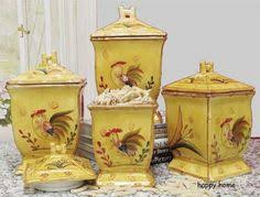 tuscany sunshine rooster french country hand painted ceramic