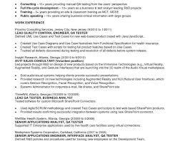 Agile Resume Manual Testing Resume Format Samples Resume Format