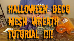 halloween mesh wreath tutorial using all dollar tree products