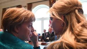 Ivanka Trump Amazon Angela Merkel U0027s Powerful Side Eye At Ivanka Trump Is Asking The