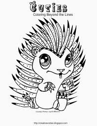 creative cuties hedgehog cutie coloring page