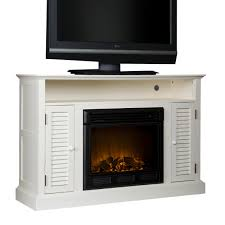 white corner media cabinet with fireplace which combined red most