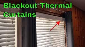 nicetown blackout thermal curtains review youtube
