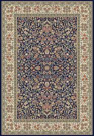 dynamic rugs ancient garden 57078 3434 blue ivory 34 navy area