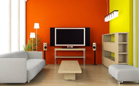 living room colorful modern living room orange and yellow paint