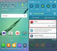 samsung galaxy s6 edge enable and use preview message