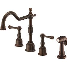 Bronze Kitchen Faucet Danze D422257br Opulence Tumbled Bronze Two Handle With Sidespray