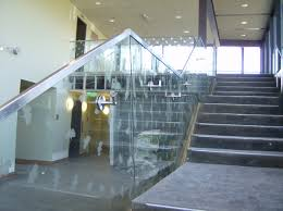 Glass Handrails For Stairs Hercules Fence Maryland Glass Railings Virginia Glass Balonies