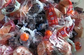 i d l e w i f e blue orange and black themed halloween candies