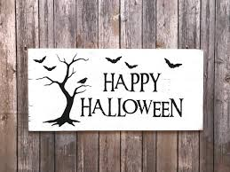 rustic happy halloween sign farmhouse halloween 11hx22 5w