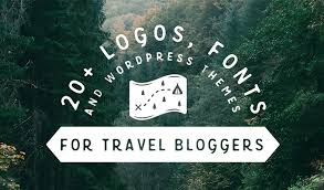 20 logos fonts wordpress themes for travel bloggers creative