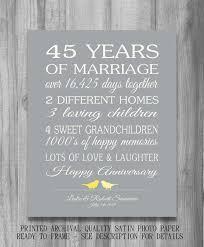 45th wedding anniversary 45 wedding anniversary gifts inspirational 45th wedding anniversary
