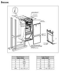 3 0 ton goodman central indoor air handler awuf36 16