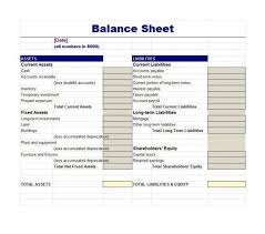 Accounting Worksheet Template Excel Balance Statement Classified Balance Sheet Template Excel
