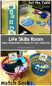 life skills room help teaching life skills and autism