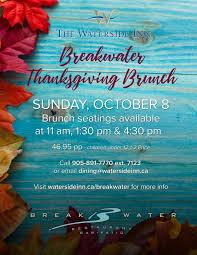 breakwater thanksgiving brunch event mississauga insauga