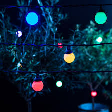 outdoor party lighting 20 multi coloured led outdoor connectable pro series festoon party