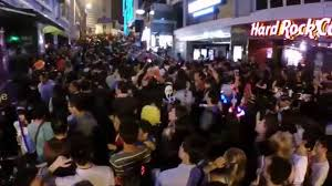 party city halloween 2014 lan kwai fong street party hong kong halloween 2014 youtube