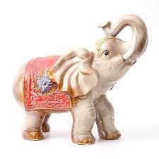 2pcs set fortune elephant ornaments ceramic craft tv wine cabinet