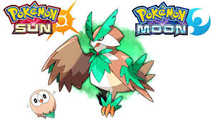 rowlet evolution designs sun and moon starter