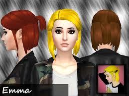 mikerashi emma hair sims 4 hairs http sims4hairs com