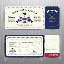 Rsvp Invitation Card Nautical Ticket Wedding Invitation And Rsvp Card With Anchor