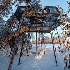 tree hotel sweden seven treehouses you can sleep inside at sweden s treehotel