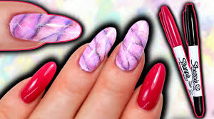 sharpie nail art how to sharpie marble nails watercolour